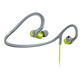 Philips SHQ4300LF ActionFit Sport headphones, flexible neckband, deep bass, green/gray Audio
