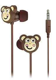 My Doodles Novelty Children's In Ear Headphones - Brown Monkey Multi Format and Universal