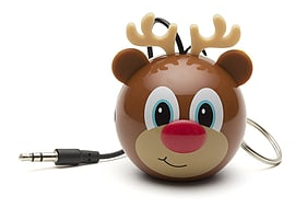 Kitsound Mini Buddy Portable Rechargeable Travel Speaker Smartphones - Reindeer Multi Format and Universal