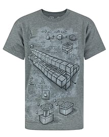 Minecraft Blueprint Boy's T-Shirt (7-8 Years) Clothing