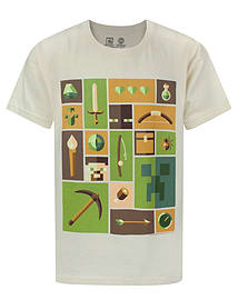 Minecraft Explorer Boy's T-Shirt (7-8 Years) Clothing