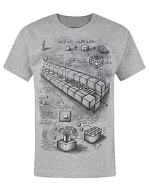 Minecraft Blueprint Boy's T-Shirt (3-4 Years) Clothing