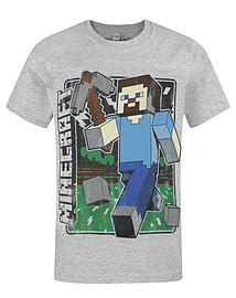 Minecraft Vintage Steve Boy's T-Shirt (3-4 Years) Clothing