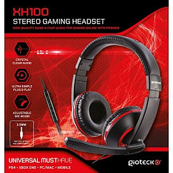 Gioteck XH100 Wired Stereo Gaming Headset Red (PS4/XBOX One/PC) PS4
