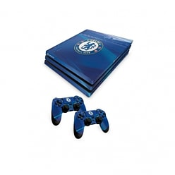 Official Chelsea FC PS4 Pro Console Skin and 2x Controller Skin Combo Pack PS4