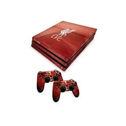 Official Liverpool FC PS4 Pro Console Skin and 2x Controller Skin Combo Pack PS4