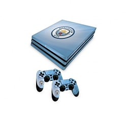 Official Manchester City FC PS4 Pro Console Skin and 2x Controller Skin Combo Pack PS4