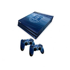 Official Everton FC PS4 Pro Console Skin and 2x Controller Skin Combo Pack PS4