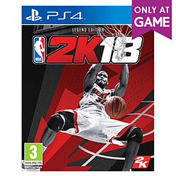 NBA 2K18 Legend Edition - Only At GAME PS4 Cover Art