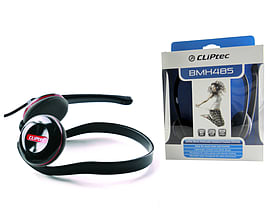 CLiPtec Velocity II Neck band Deep Base Stereo Multimedia Headphones Black/Red Audio