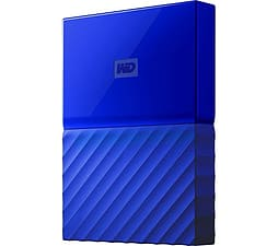 WD My Passport Portable Hard Drive - 2 TB - Blue PC