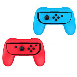 2 x Red and Blue Controller Grip Handles for Nintendo Switch Joy-Con Nintendo Switch