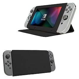 Screen Cover Stand for Nintendo Switch - Multifunctional Tablet Case - Black Nintendo Switch