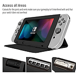 Screen Cover Stand for Nintendo Switch - Multifunctional Tablet Case - Black screen shot 1