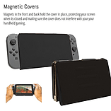 Screen Cover Stand for Nintendo Switch - Multifunctional Tablet Case - Black screen shot 2