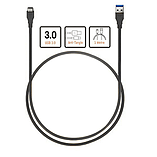 Type-C to Male USB 3.0 Charging Cable 1M - Black screen shot 2