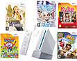 White Nintendo Wii Console 1 Remote Nunchuk and 5 Games Girls Bundle Wii