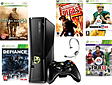 Xbox 360 Slim Black Console + 5 Games 1 wireless controller & Cables XBOX360