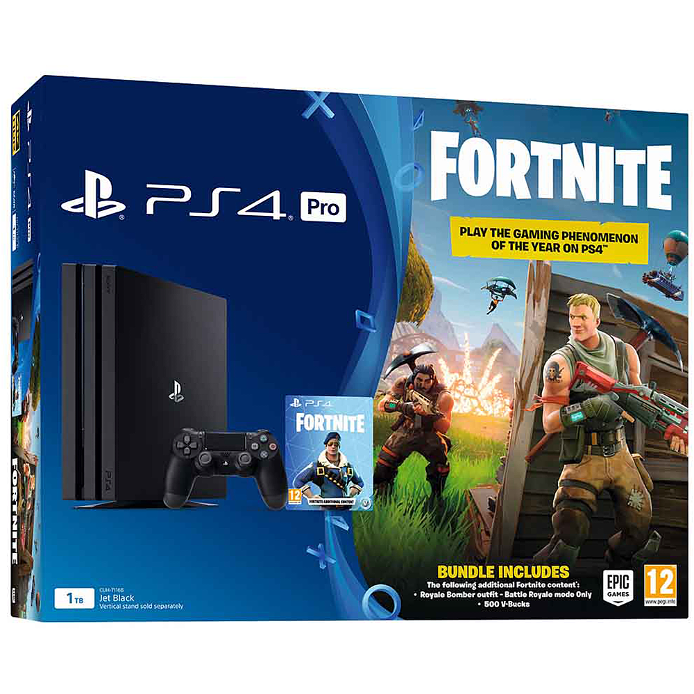 PS4 Pro 1TB with Fortnite Royale Bomber Outfit & 500 V-Bucks