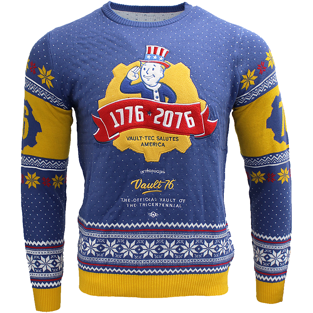 Vault Tec Christmas Sweater.Fallout 76 Large Christmas Jumper