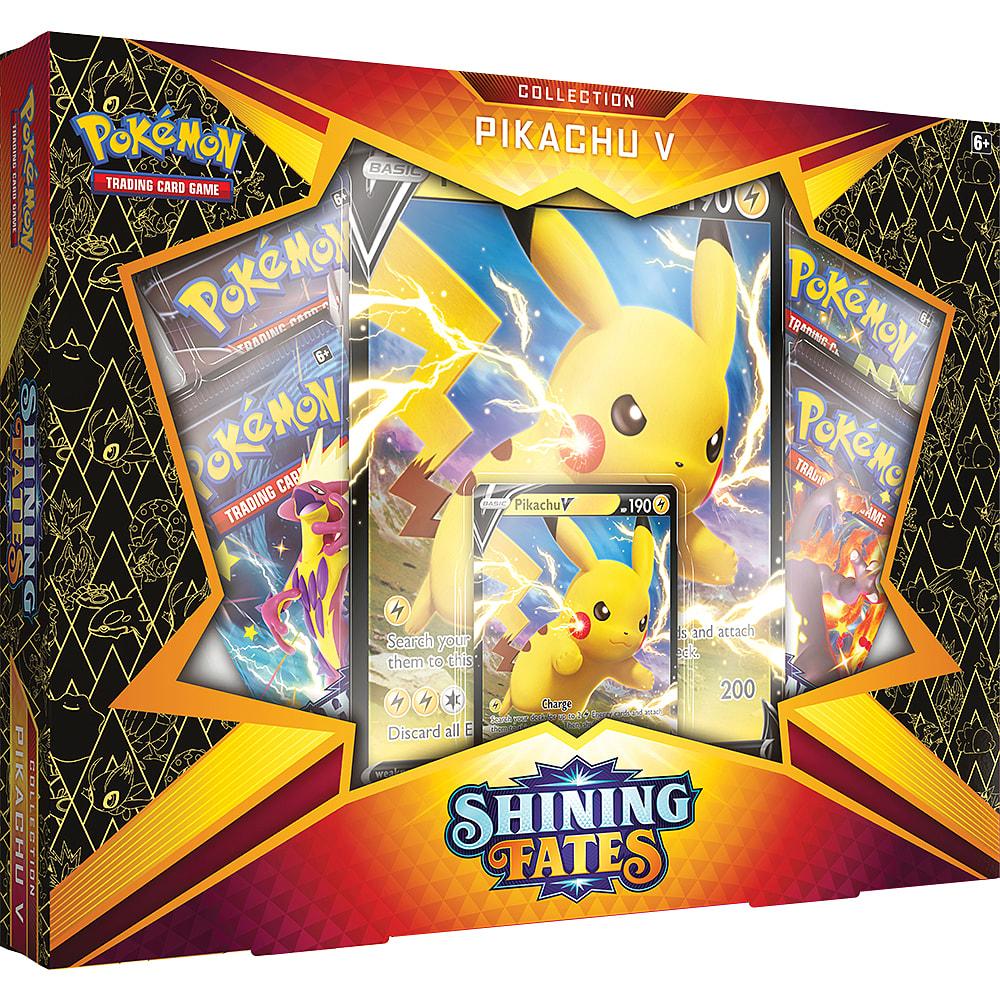 buy pokémon tcg shining fates pikachu v box  game