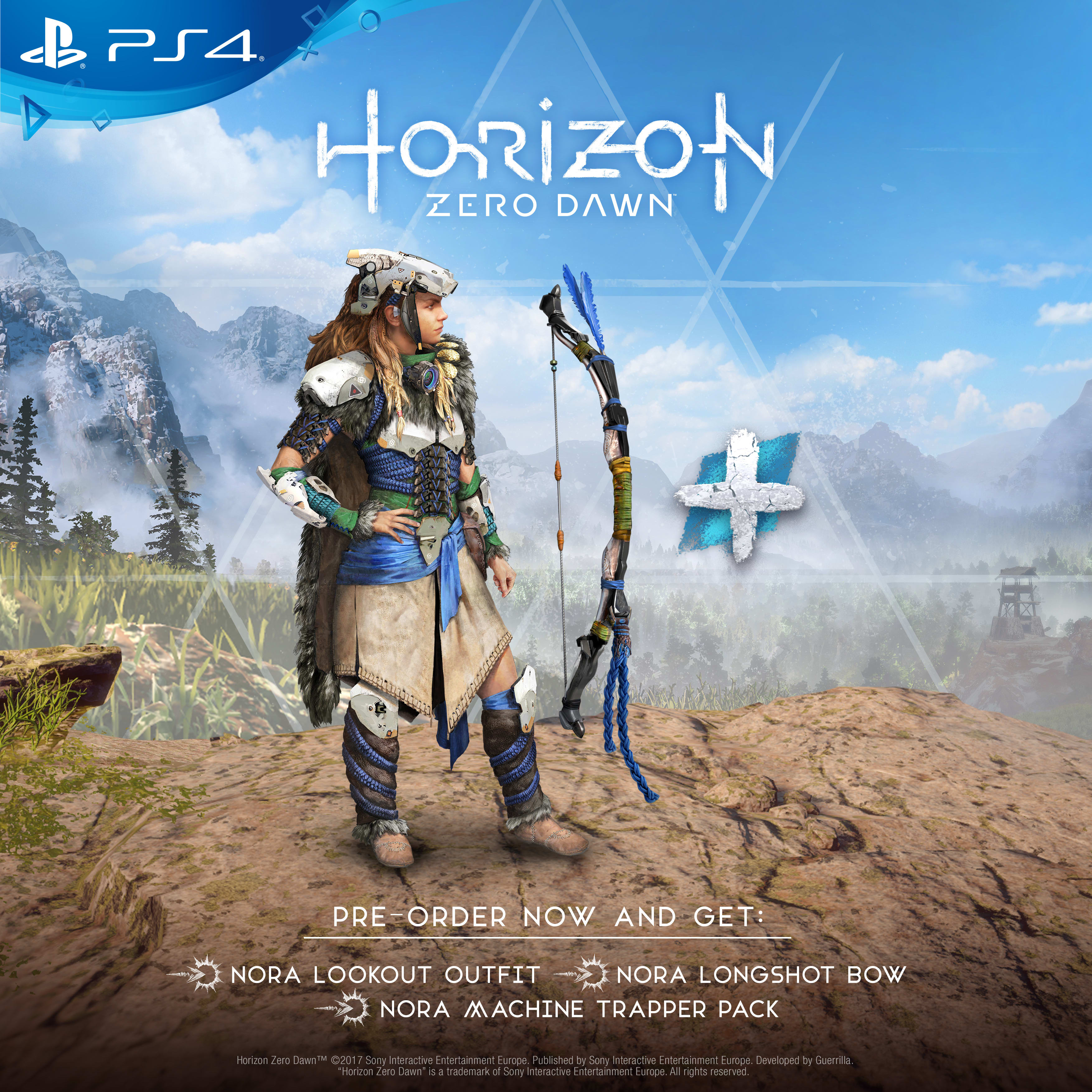 Pre-order Horizon Zero Dawn now to receive a bonus outfit and bow for Nora - Only at GAME!