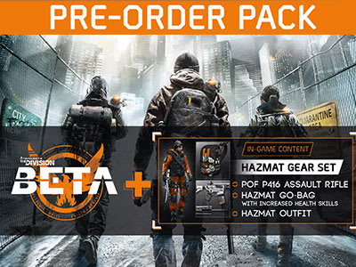 Preorder Bonus: Closed BETA Access and Hazmat Gear Set!