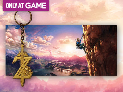 Pre-Order The Legend of Zelda: Breath of the Wild and receive a keyring and poster set - Only at GAME.