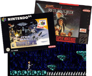 Super Return of the Jedi and Shadows of the Empire - classic Nintendo  Star wars games