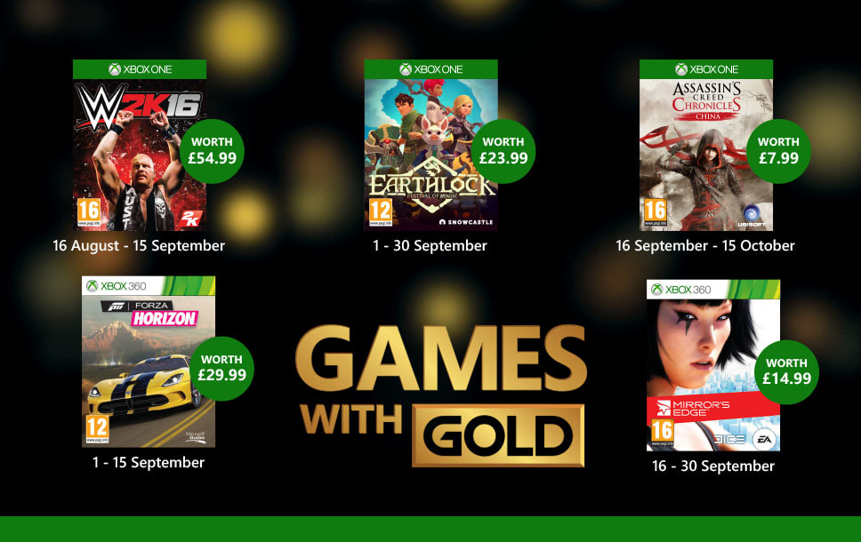 Xbox Live - Games with Gold