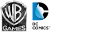 Warner Brothers Games Logo, Rocksteady Logo. DC Comics Logo