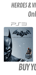 Batman: Arkham Origins GAME Exclusive Heroes & Villains Steelbook Edition (PS3)