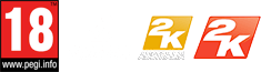 PEGI 18 Logo - Not available to gamers under 18 years of age, Gearbox Software Logo, 2K Australia Logo, 2K Logo