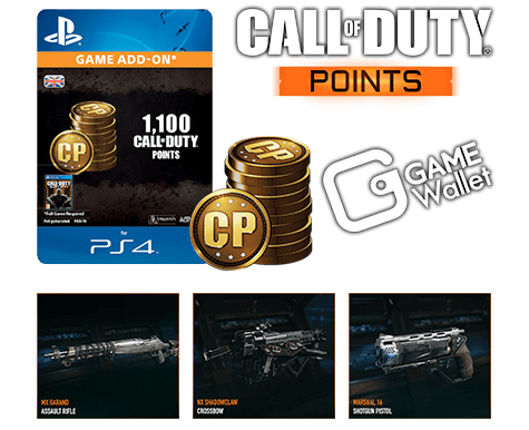Call of Duty points with GAME Wallet