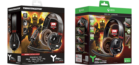 DOOM Thrustmaster Headsets