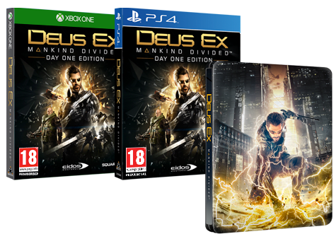 Deus Ex Mankind Divided Steelbook Edition