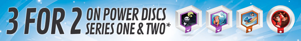 3 for 2 on Power-discs Series 1 and 2*