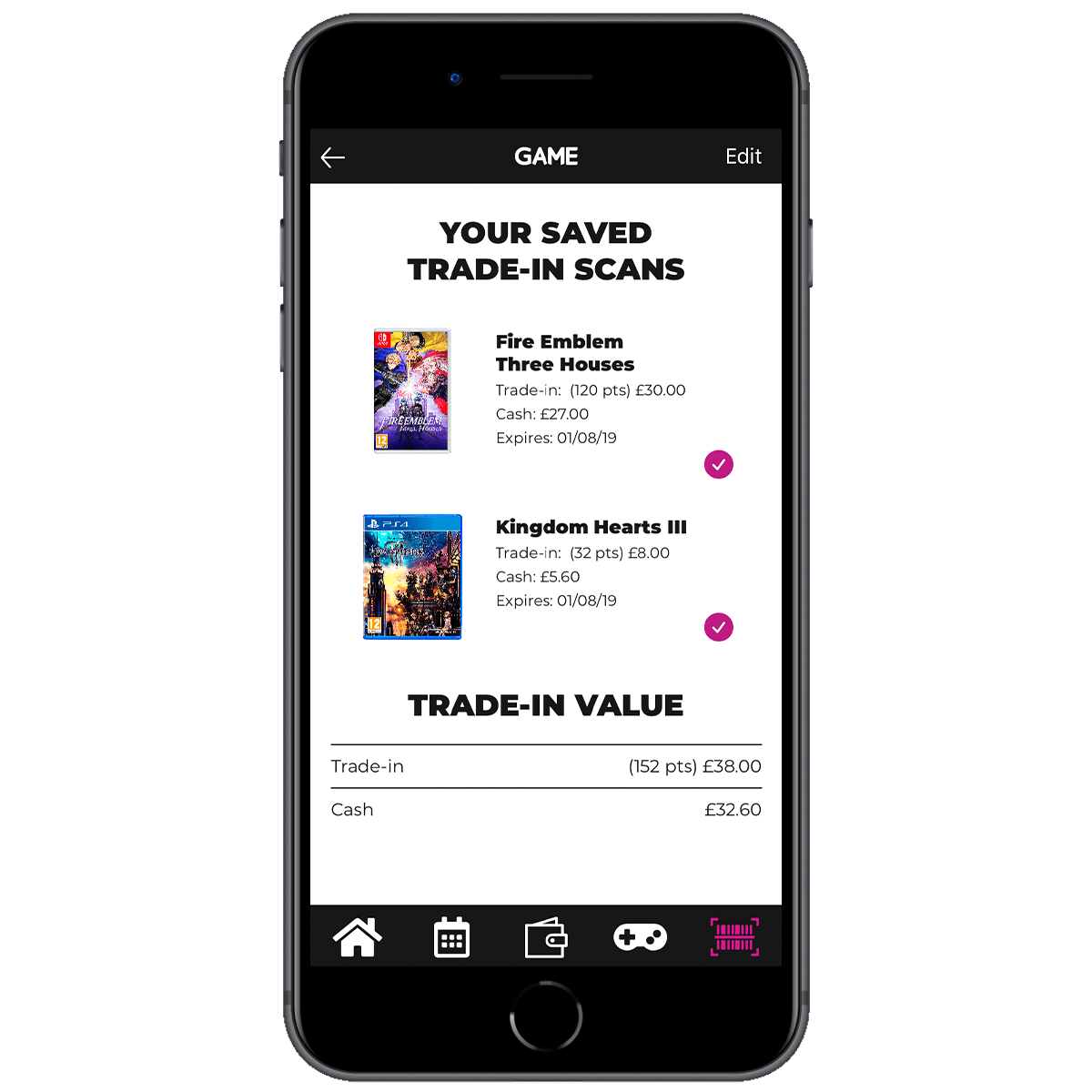 3249585edae000 Trade-in online or pick up your games to trade-in at your local store.  Conveniently save all your scans in one place in the GAME App.
