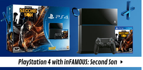 PlayStation 4 with inFamous: Second Son