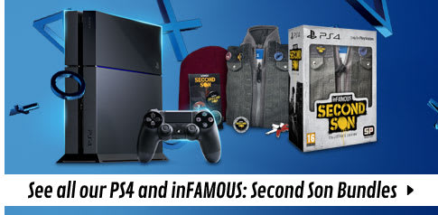 PlayStation 4 with inFamous: Second Son Console Bundles