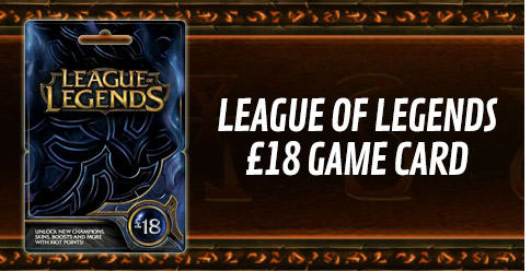 League of Legends £18 Game Card
