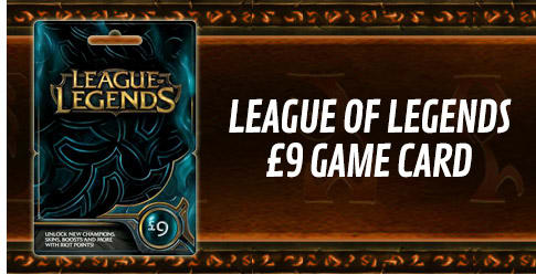 League of Legends £9 Game Card