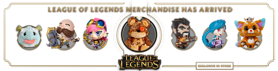 League of Legends Merchandise - Exclusive to Stores