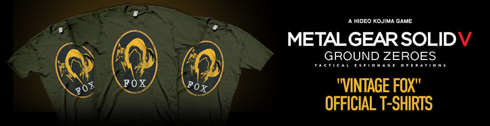 Metal Gear Solid V Vintage Fox Official T-Shirts