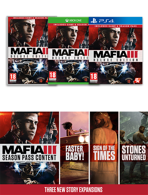 Mafia III Deluxe Edition Xbox One, PS4 and PC