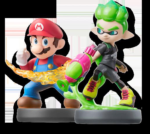 Amiibo Mario & Splatoon character