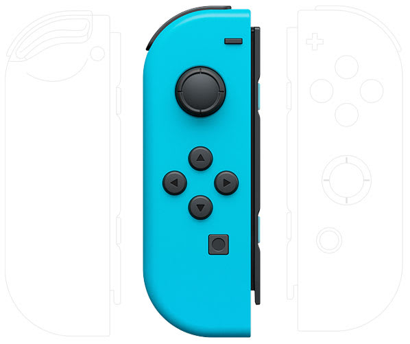 Nintendo Switch blue left joy-con contoller