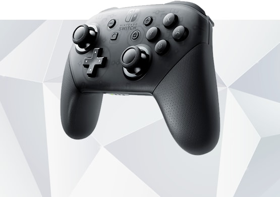 Nintendo Switch Pro controller angled