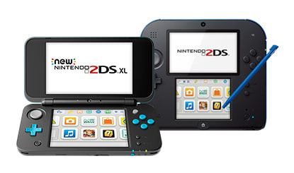 Nintendo 3DS and Nintendo 2DS overlapping