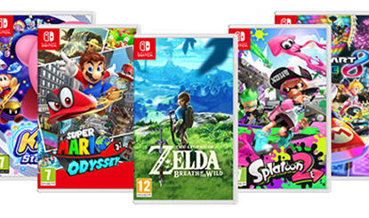 Nintendo Switch games spread out